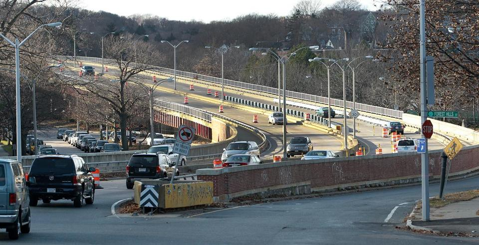 The state is preparing to tear down the Casey Overpass over the Forest Hills MBTA station. The area has been targeted for redevelopment.