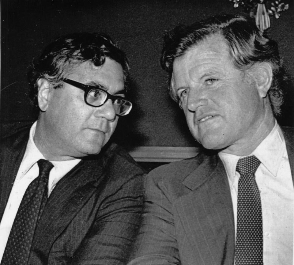 Representative Barney Frank and Senator Ted Kennedy in 1980.