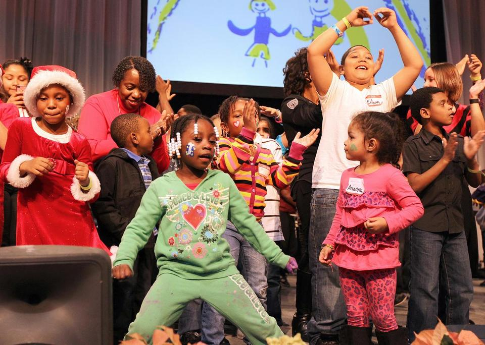 Children danced at the 2011 Christmas in the City event in Boston.