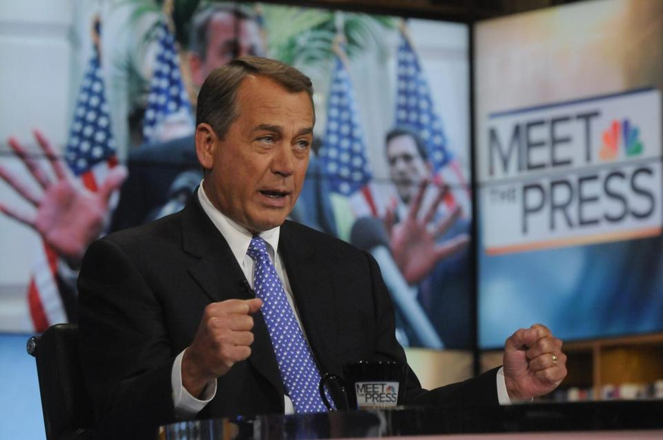 "House Speaker John Boehner appeared on ""Meet the Press"" yesterday."
