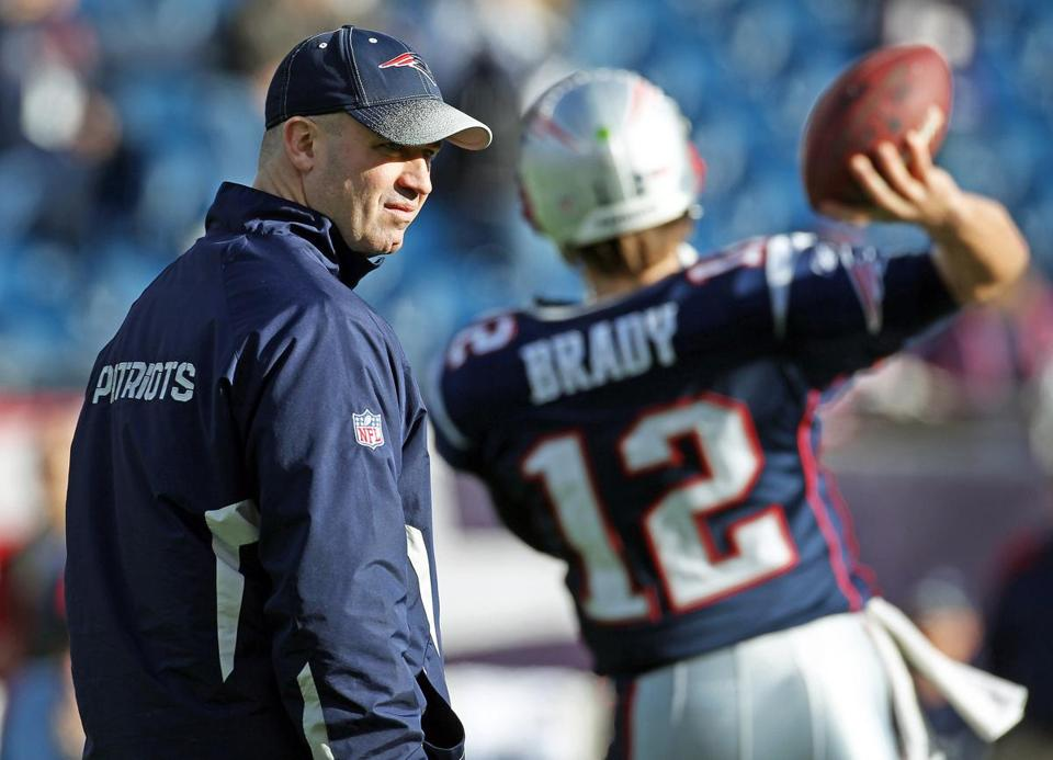 Bill O'Brien joined the Patriots in 2007 as an offensive coaching assistant. In 2008, he became receivers coach, and moved to quarterbacks coach in '09.