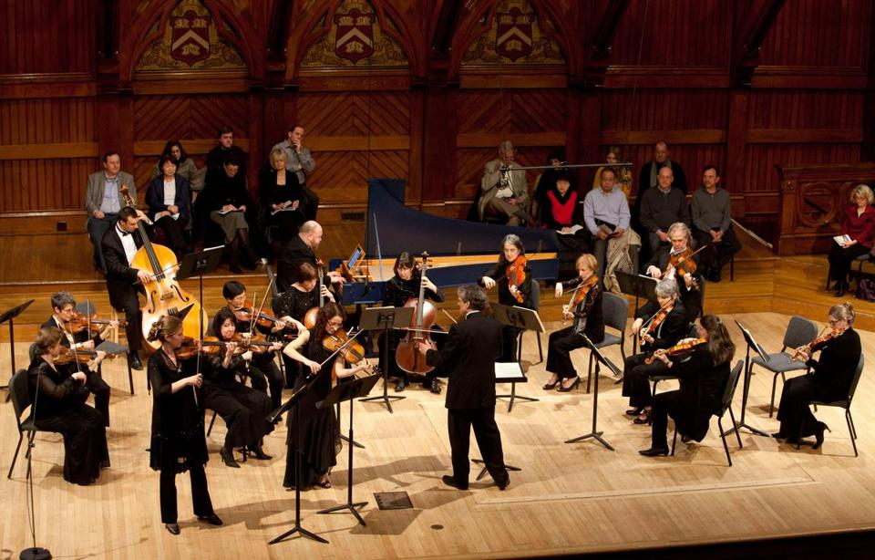 Boston Baroque performed a First Day Concert at the Sanders Theatre in Cambridge on January 1, 2012.