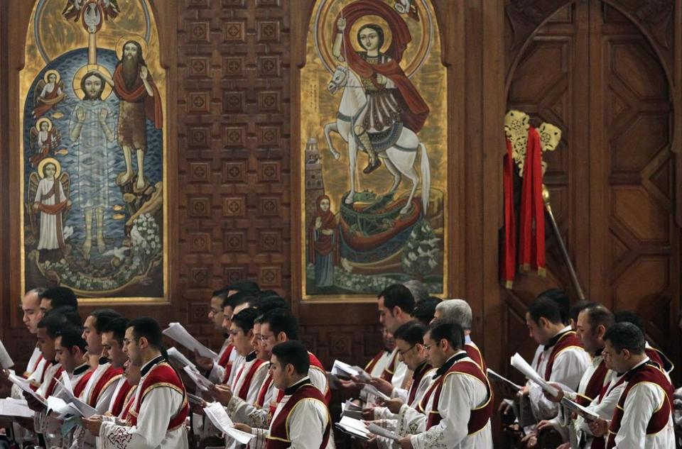Christians at the Coptic cathedral in Cairo celebrated Christmas amid tight security and calls for national unity.