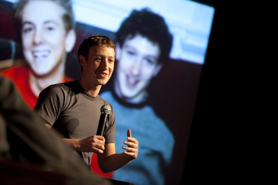 Facebook founder Mark Zuckerberg spoke to an audience at Harvard late last year.