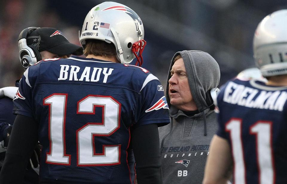 Tom Brady and Bill Belichick will play in their fifth Super Bowl on Sunday.