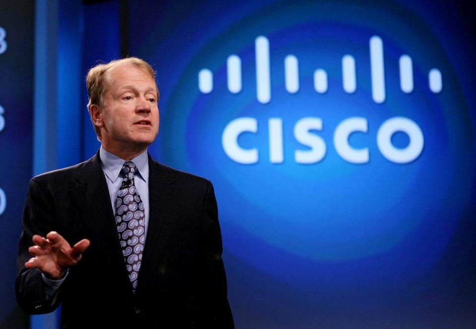 John Chambers is CEO of Cisco; its quarterly results beat analysts' estimates.
