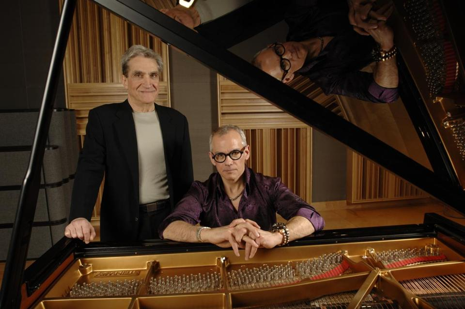 Former US poet laureate Robert Pinsky (left) and pianist Laurence Hobgood team up tonight at the Regattabar to set poetry to jazz.