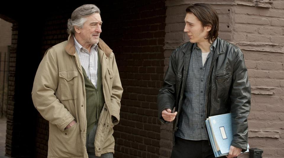 "Robert De Niro (left) stars ""Jonathan Flynn"" as Paul Dano (right) stars as ""Nick Flynn"" in Paul Weitz's ""Being Flynn."""