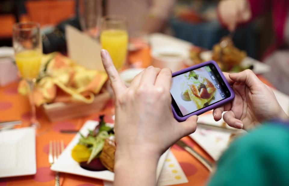 A 2013 study claims that the more one looks at photographs of food, the less they will be with satisfied with their meals.