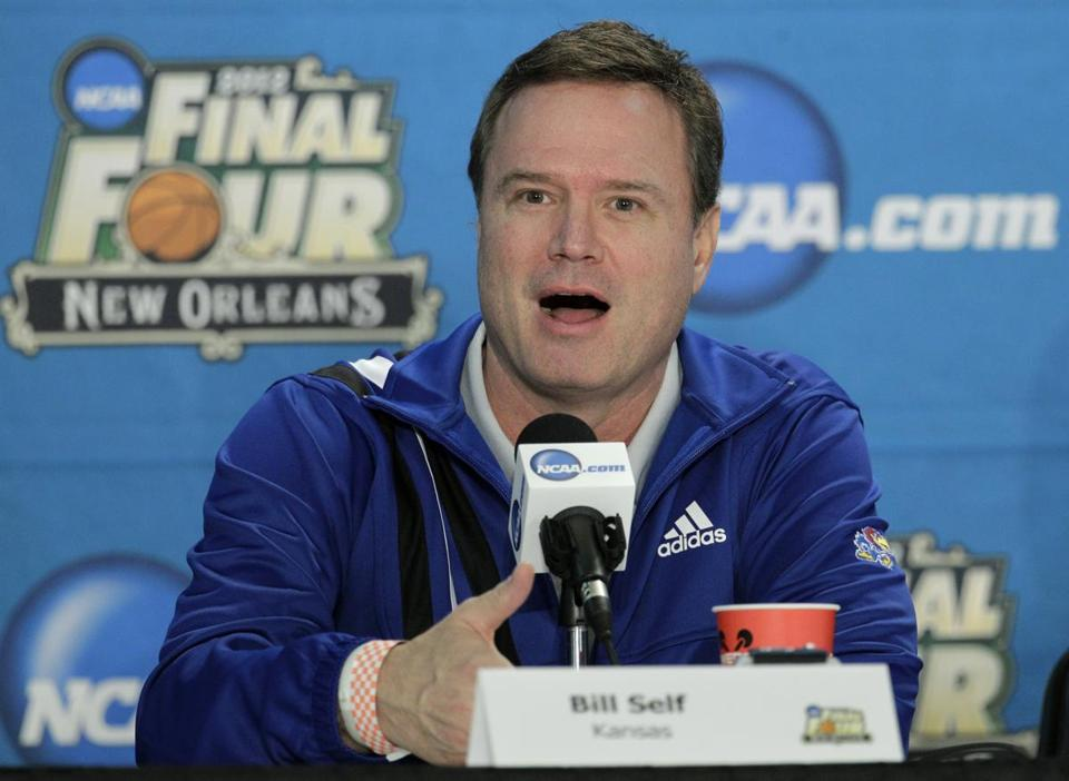 Kansas coach Bill Self will lead his team against Kentucky on Monday night.