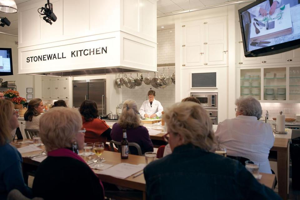 At the Stonewall Kitchen Cooking School in York, Maine, classes are ...