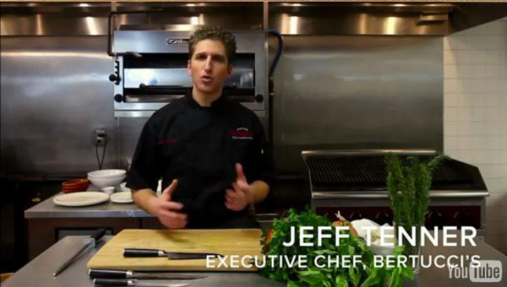 Jeff Tenner, Bertucci's head chef, appears in videos on YouTube.