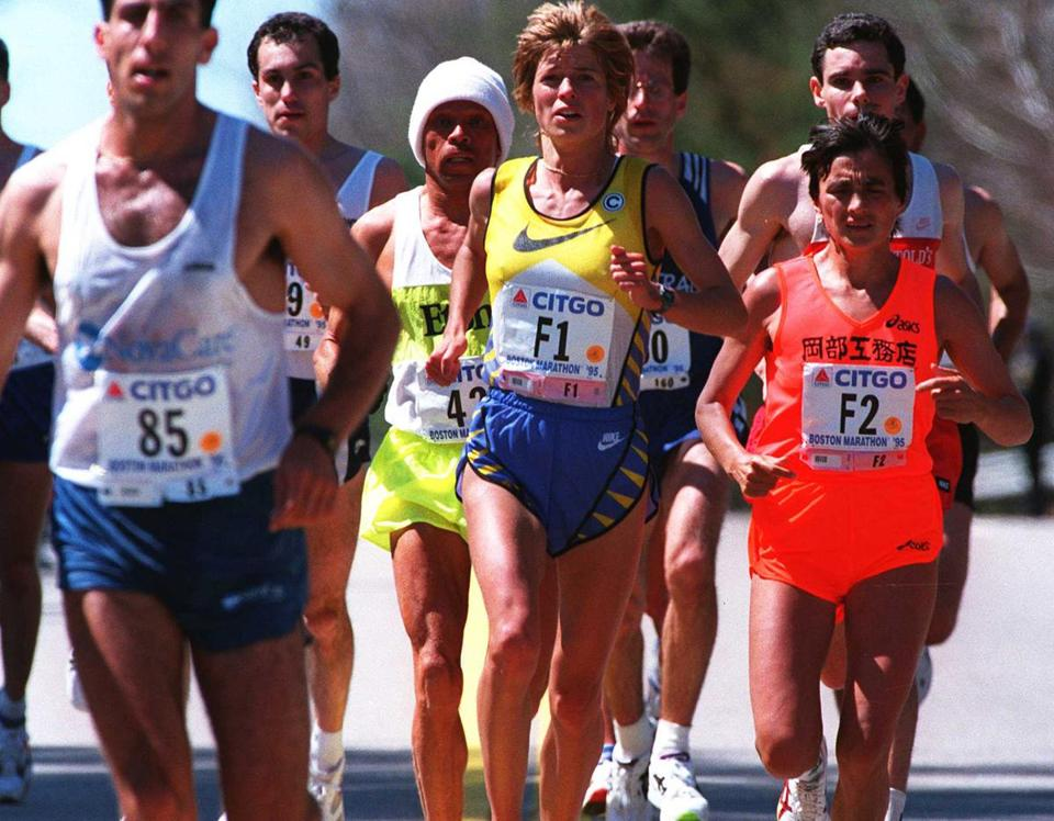 Uta Pippig was paced by male runners during portions of the 1995 Boston Marathon, when she won the women's title.