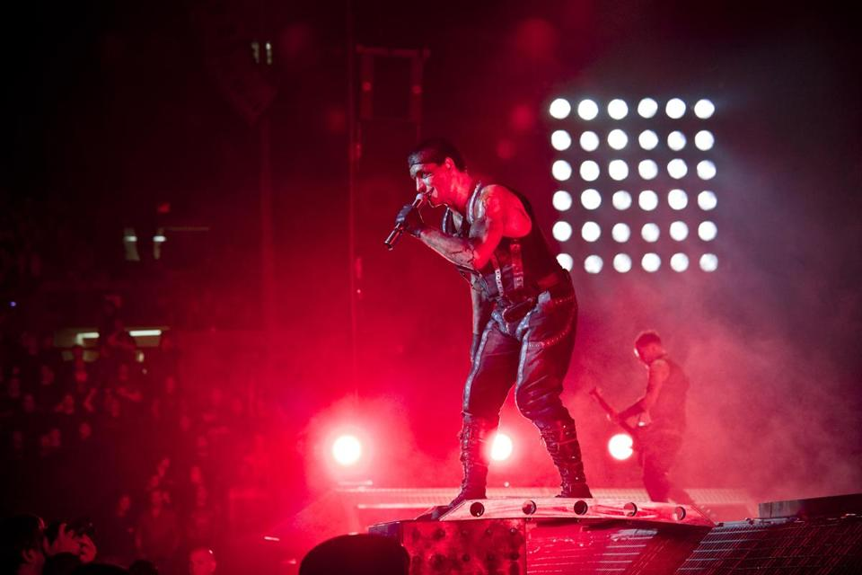 Till Lindemann (here in New York in 2010) and Rammstein played Sunday in Worcester.