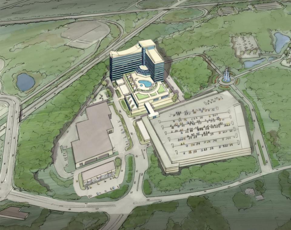 A rendering of the proposed Mashpee Wampanoag casino in Taunton. Proponents say it would be a boon to the economy.