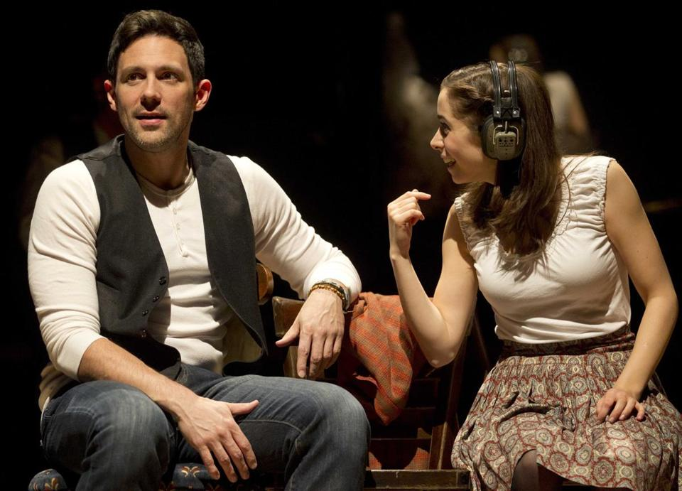 "Steve Kazee  (left) and Cristin Milioti perform a scene from ""Once,"" in New York."