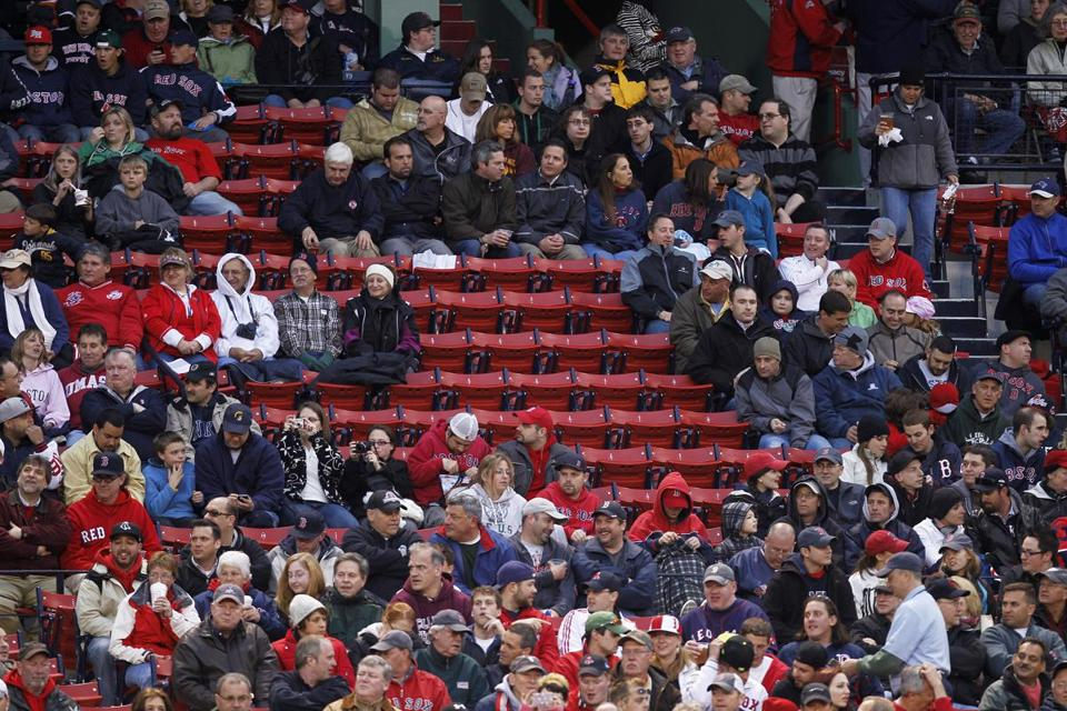 The Red Sox' officially maintained a sellout streak last season despite playing before many empty seats.