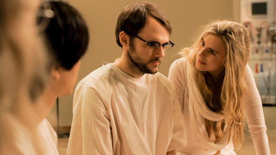 "Brit Marling (with Christopher Denham) plays the mastermind of a cult in ""Sound of My Voice.''"