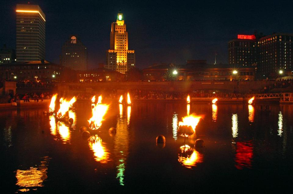 WaterFire is a major tourist draw for Providence. Downtown rivers are studded with fires, and musicians play along the route, attracting up to 1 million people over the summer.