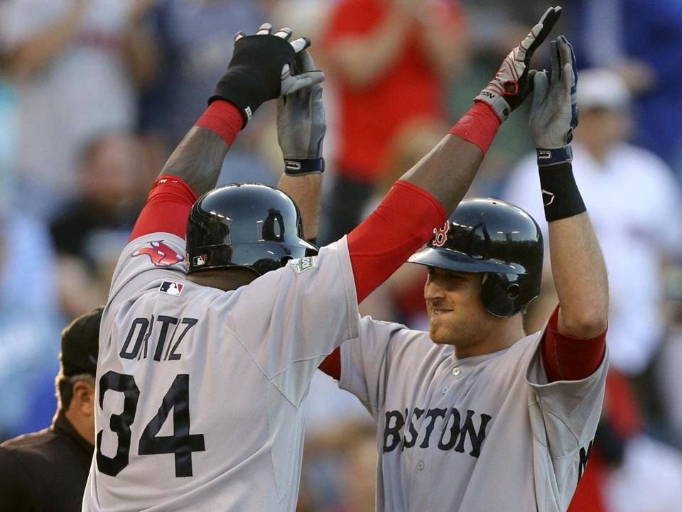 David Ortiz opens up for rookie Will Middlebrooks, who belted a three-run homer in the first inning, then launched a two-run shot in the eighth.