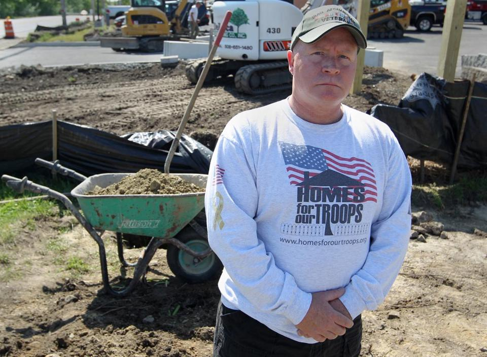 Ken Gidney has been overseeing the construction of a new veterans memorial at Natick's VFW Post 1274.