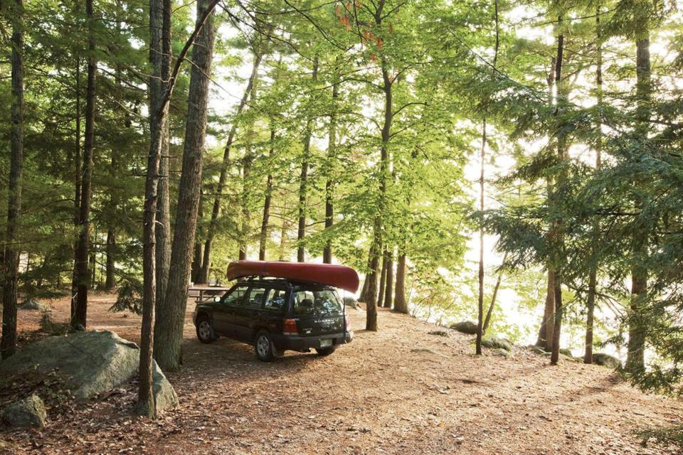 Camping At Pawtuckaway Lake In South Central New Hampshire Offers Hiking Trails
