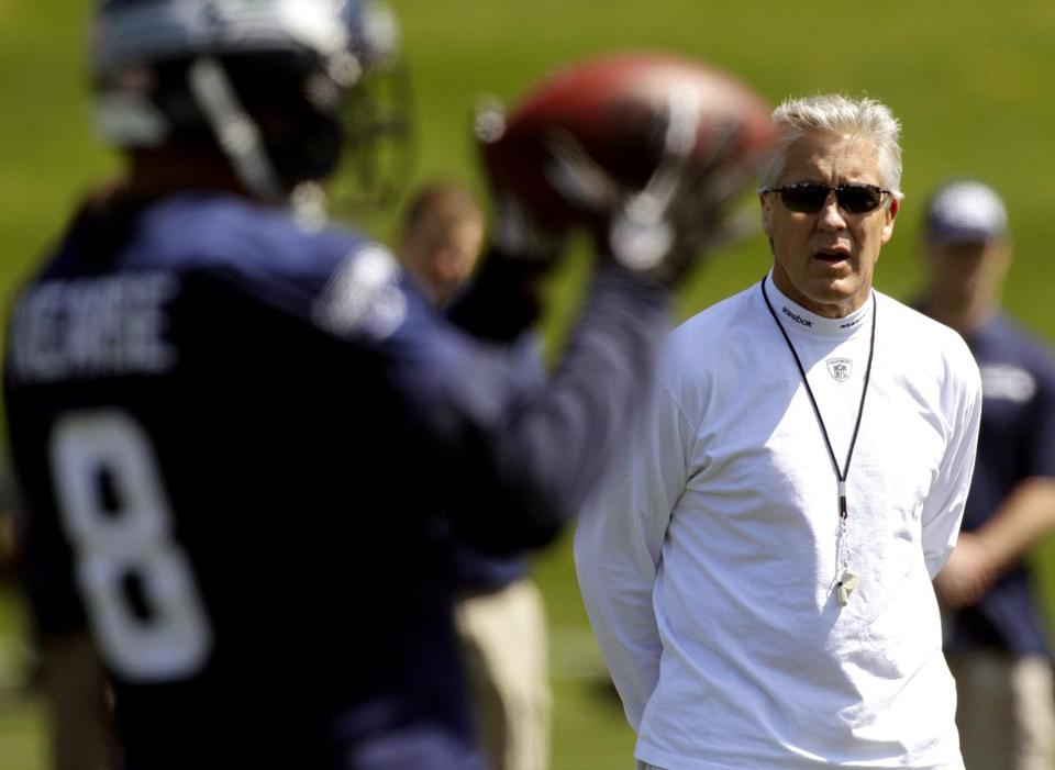 In 2007, then-Southern Cal coach Pete Carroll (now with the Seahawks) and then-NFL Players Association executive director Gene Upshaw combined forces in an attempt to keep agents off the backs of talented underclassmen.