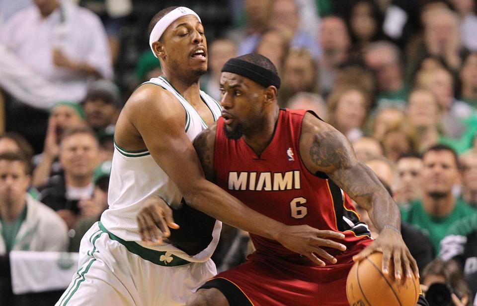 None of the Celtics, including Paul Pierce, had luck guarding LeBron James, who had 30 points by halftime.