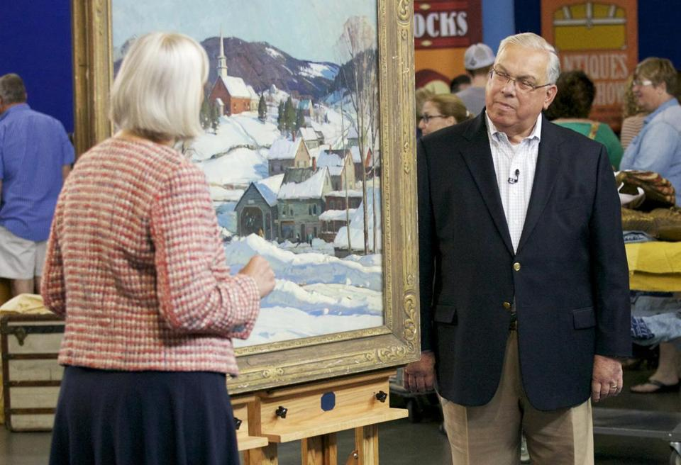 "Colleene Fesko appraised a painting of a winter landscape that Mayor Tom Menino brought to ""Antiques Roadshow.''"