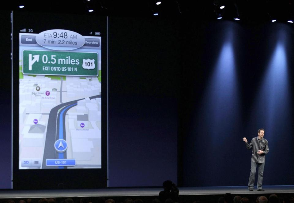 Scott Forstall, an Apple senior VP, detailed map software at a June conference. He has since resigned from that position.
