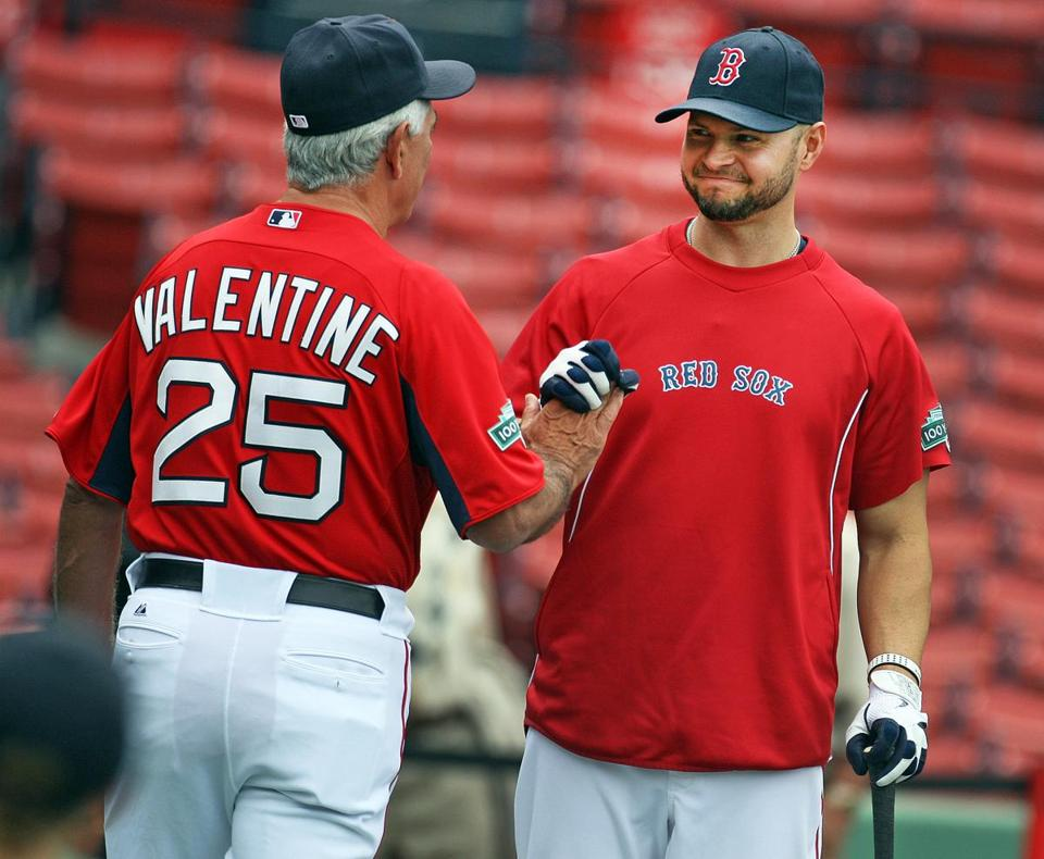 Bobby Valentine was happy to welcome Cody Ross (who hit a home run on Tuesday night) back to the lineup.