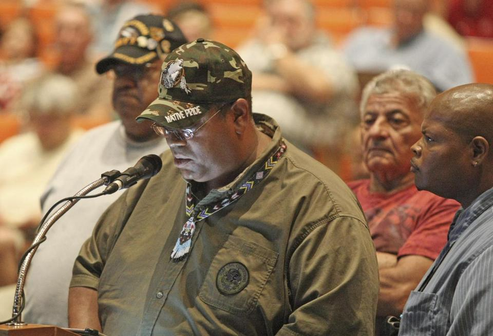 Daryl Black Eagle Jamieson, vice chairman of the Pocasset Tribal Council, was among those who challenged Mashpee historical claims to the proposed casino site.