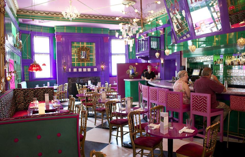 the eclectic clientele and the zany decor have kept the two floor restaurant a go