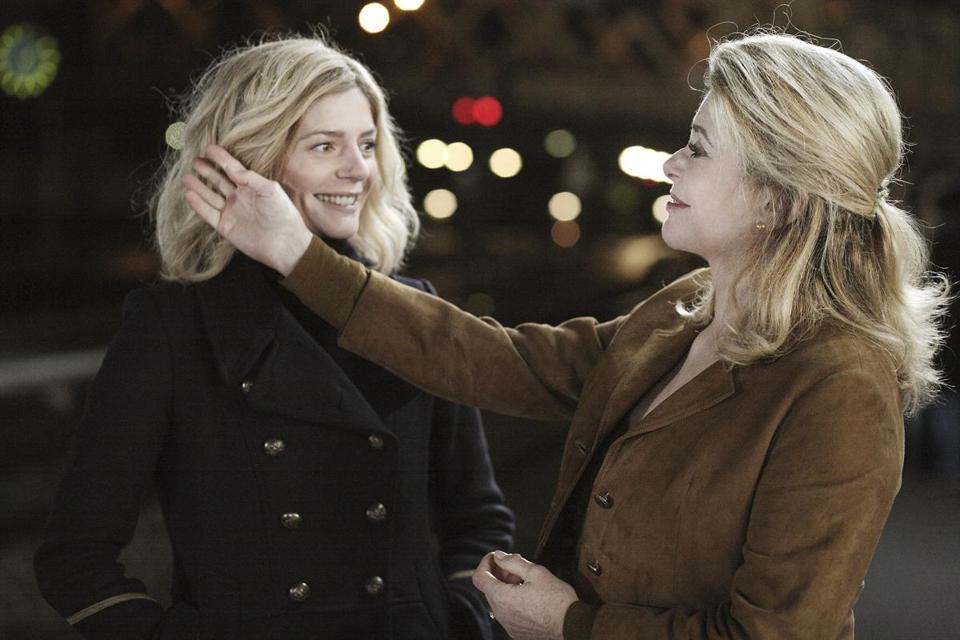 "The daughter and mother team of Chiara Mastroianni (left) and Catherine Deneuve in Christophe Honoré's ""Beloved."""