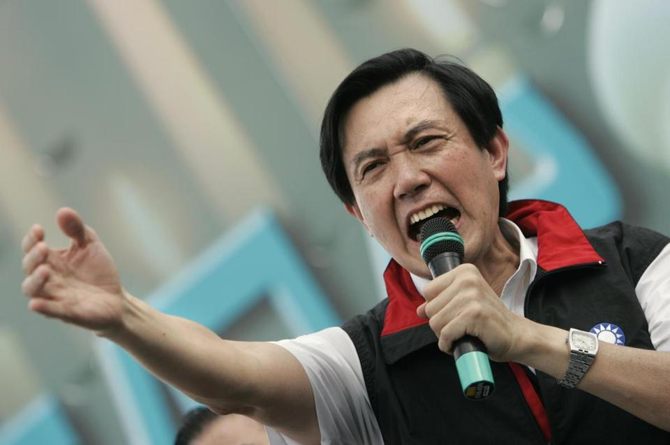Ma Ying-jeou, now president of Taiwan, rallied supporters in 2006.