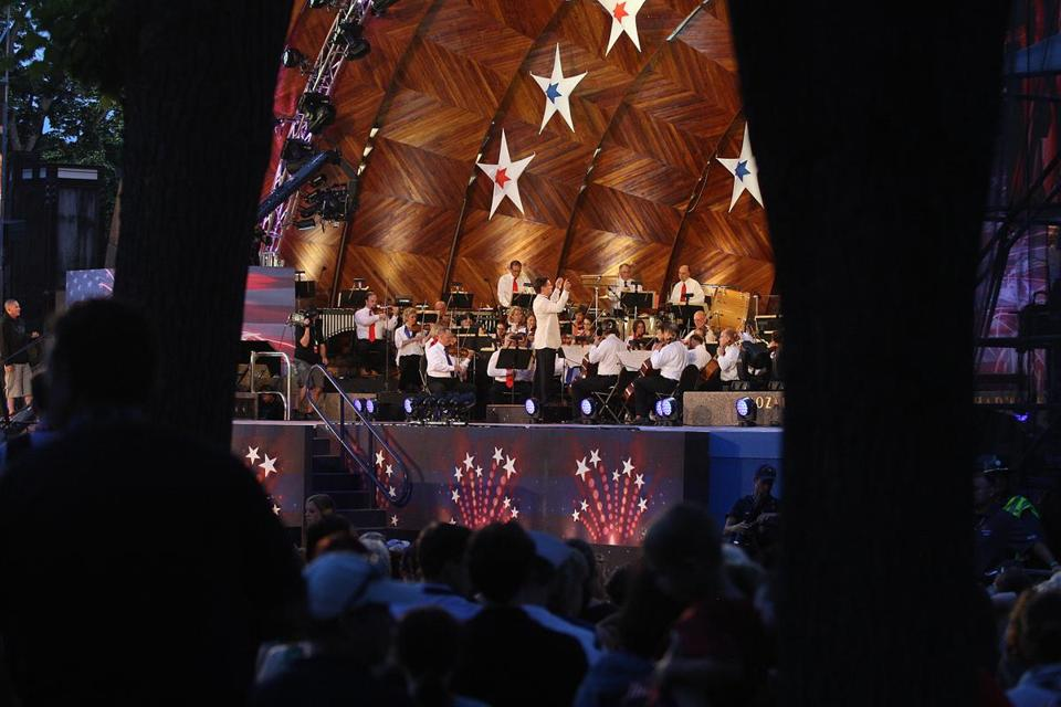The Boston Pops concert and fireworks show each July 4 brings more than a half-million people to the Charles River Esplanade. Ratings of the TV broadcast, however, have fallen.