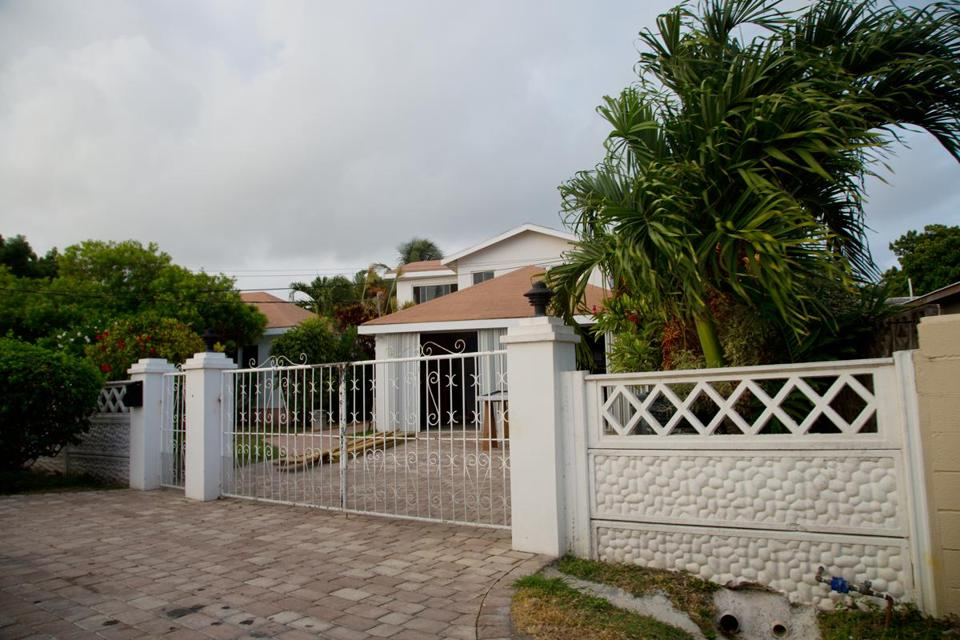 Robert Eremian lives in this house in Cedar Grove, Antigua, and has had his sister and brother-in-law, Patrice and US Representative John F. Tierney, over for dinner there.