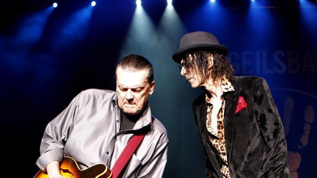 J. Geils (left) and Peter Wolf performing in Boston last summer.