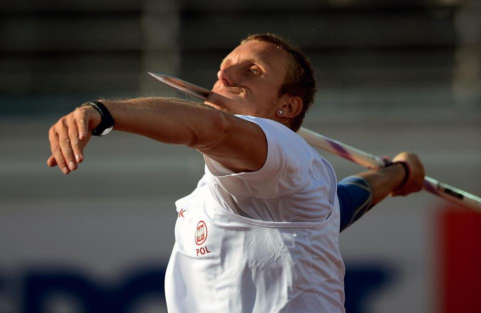 Polish javelin thrower Igor Janik and other athletes know that competition sometimes begins with customs agents.