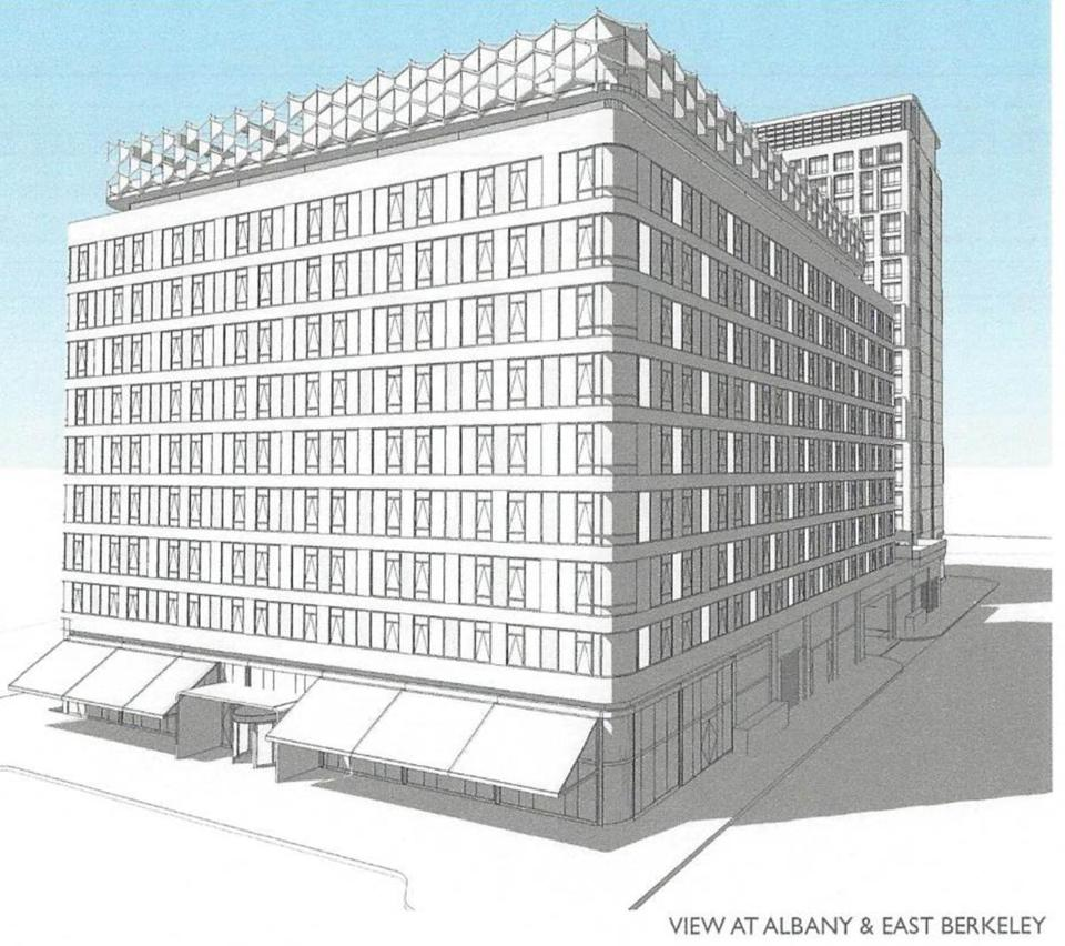 Globe Apartments: Apartments, Hotel Proposed For South End