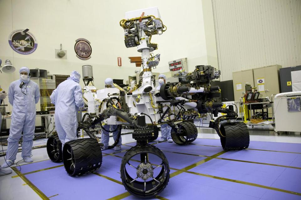 The Mars Science Laboratory rover, Curiosity, landed on the surface of Mars without a hitch early Monday.