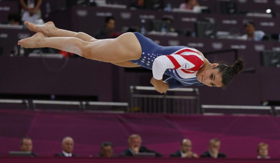 Aly Raisman won the floor exercises, a first for an American gymnast, after taking the bronze on the balance beam.