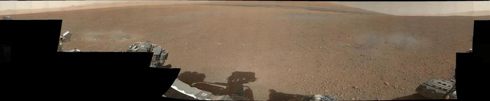 Curiosity beamed back a 360-degree view of the crater in thumbnail photos on Thursday.