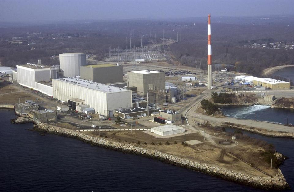 A mild winter and hot July are cited as reasons water from Long Island Sound has become too warm for Millstone Power Station in Connecticut, a nuclear plant, to use for cooling.