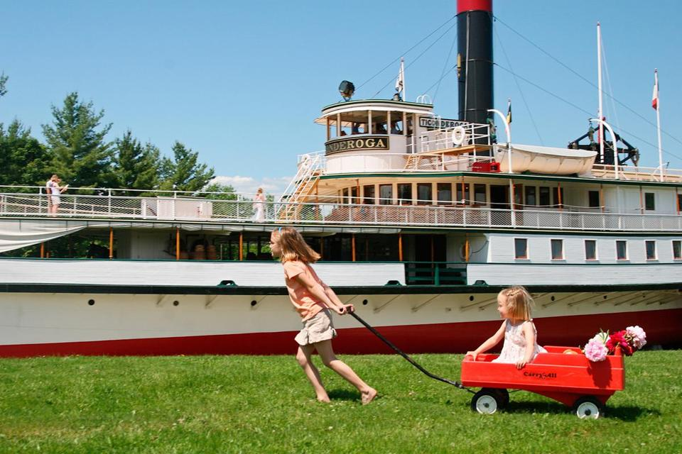The 220-foot 1906 steamboat Ticonderoga operated on Lake Champlain until 1953.