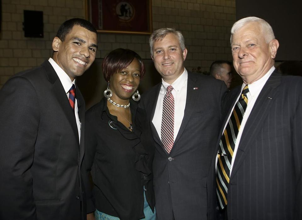 Coleman Nee (second from right) was secretary of veterans services under Governor Deval Patrick and now serves as a the chief executive of Triangle Inc.