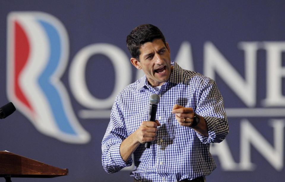 Paul Ryan spoke during a campaign event Friday in Virginia.