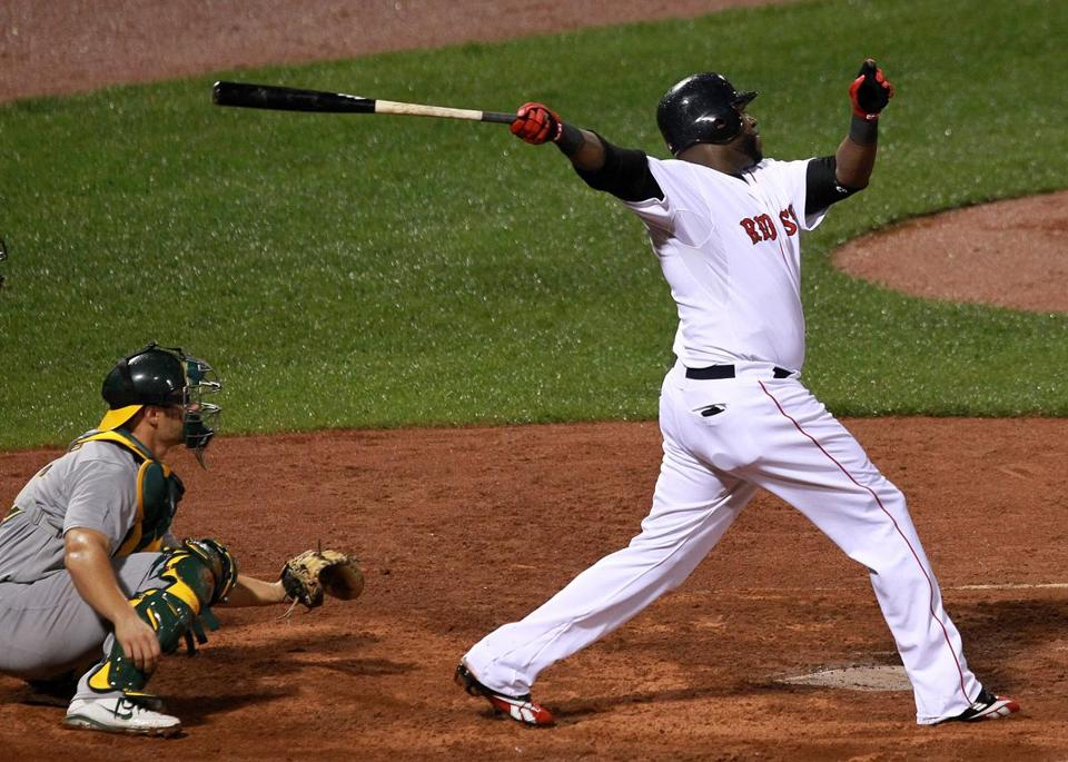 David Ortiz blasted this two-run home run in the second game of the doubleheader.