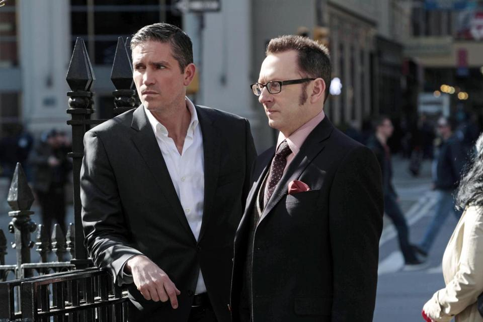"""Person of Interest"" stars Jim Caviezel (left) and Michael Emerson."