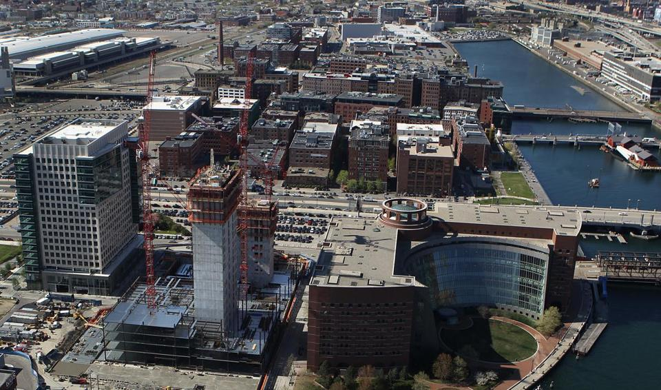 Vertex's new headquarters, under construction in South Boston.
